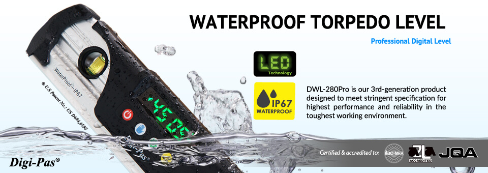 Waterproof Torpedo leve -  Model: DWL 280Pro