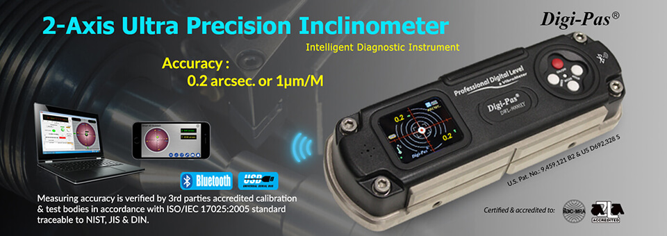 2-ultra precision inclinometer - Model: DWL 8500XY